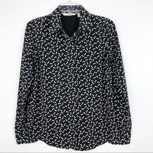 LC Lauren Conrad Long Sleeve Bow Button Down Shirt